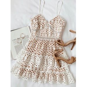 Lulu's Beauty & Lace White Crochet Mini Dress